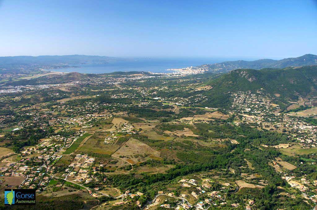 Ajaccio depuis le Monte Gozzi