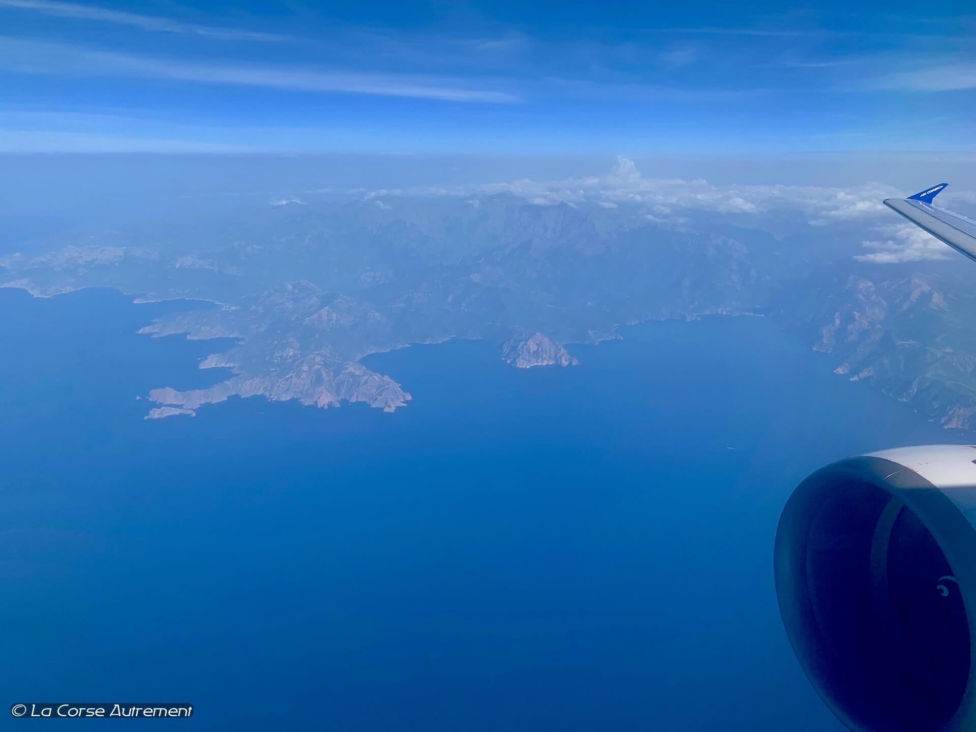 Corse vue du ciel