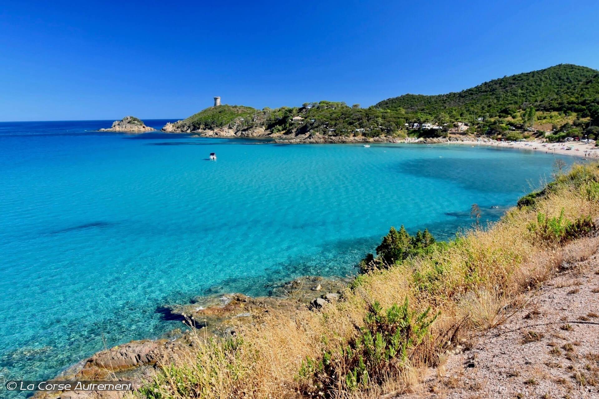 la plage de Fautea en Corse du Sud