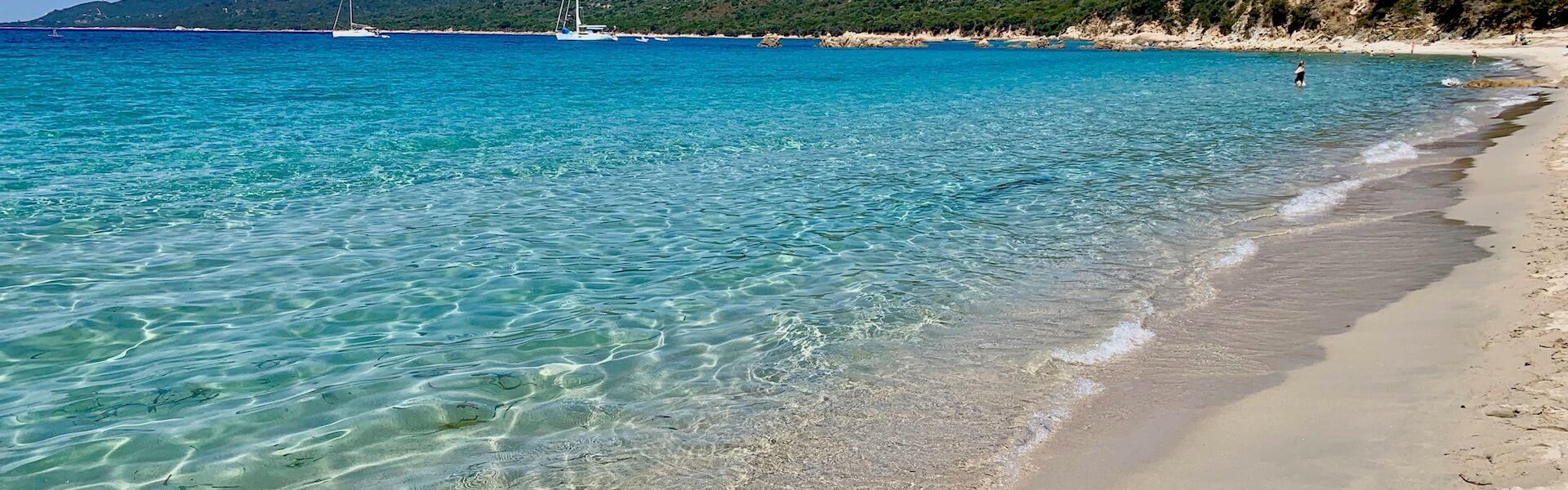 La plage de Cupabia en Corse