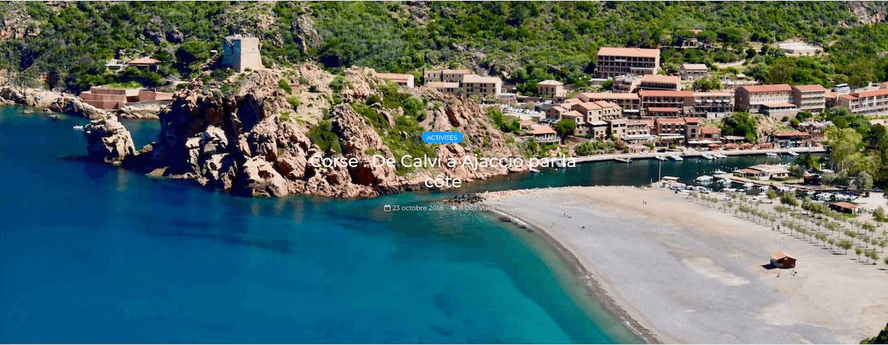 De Calvi à Ajaccio par la côte