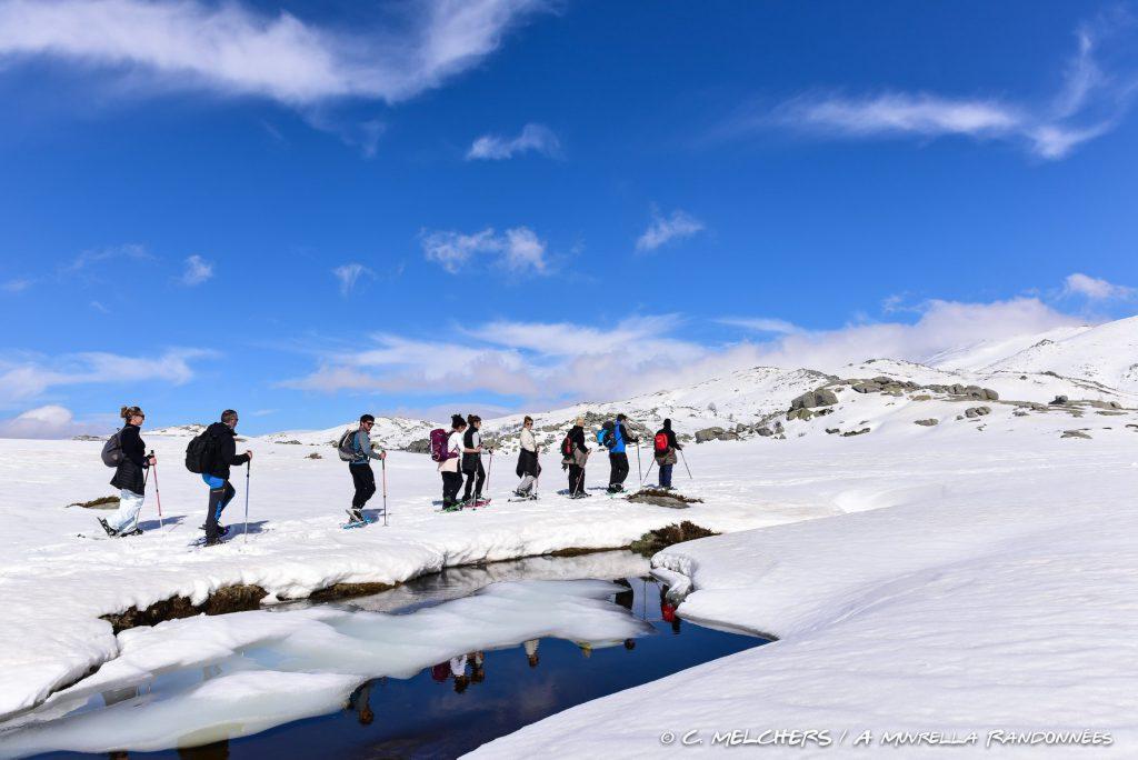 Plateau du Coscione en raquettes à neige