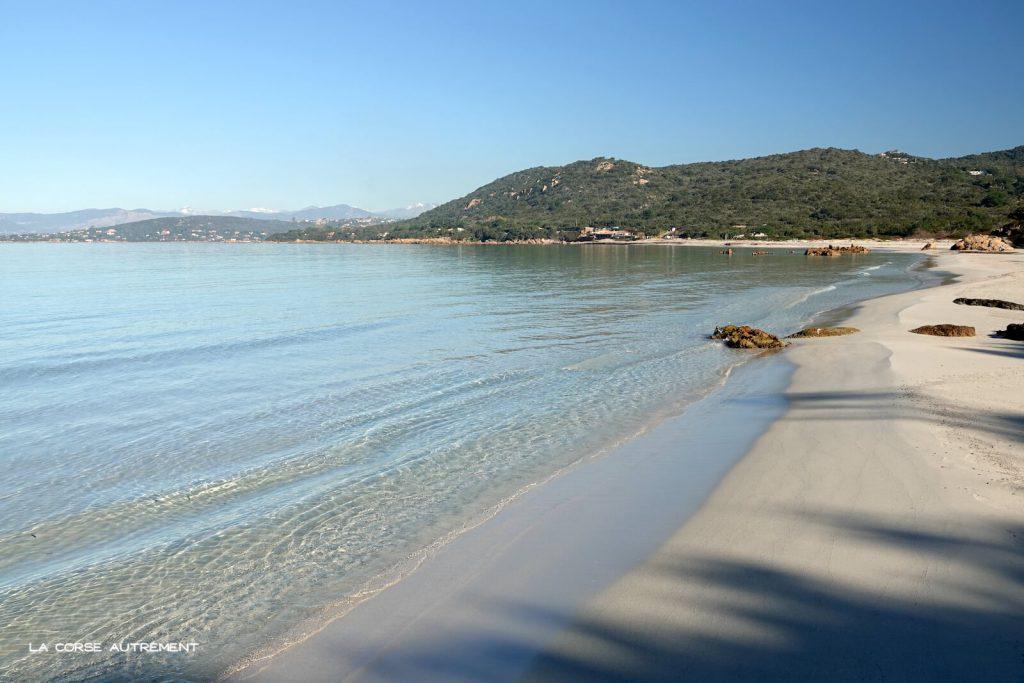 La plage de Mare e Sole, Golfe d'Ajaccio